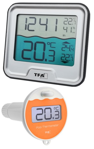 Funk Poolthermometer Marbella TFA 30.3066 Schwimmbadthermometer