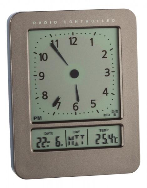 Digitaler Funkwecker TFA 60.2530.10 mit 2 Alarmzeiten Reisewecker