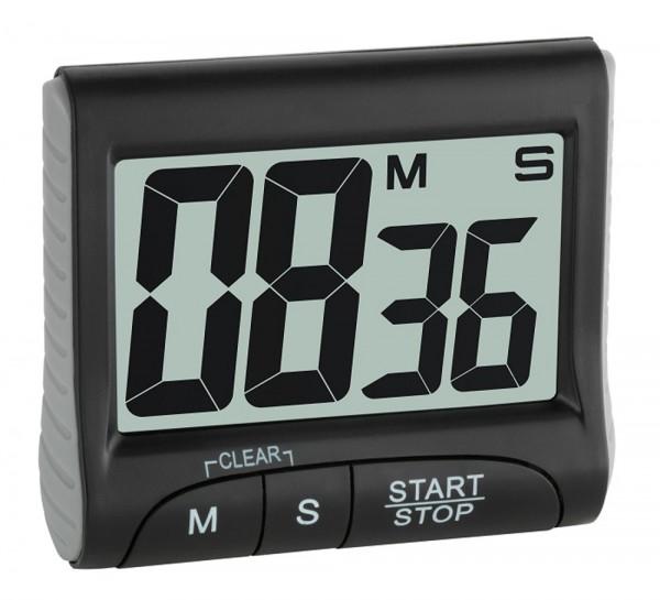 Elektronischer Timer mit Stoppuhr TFA 38.2021 Backuhr