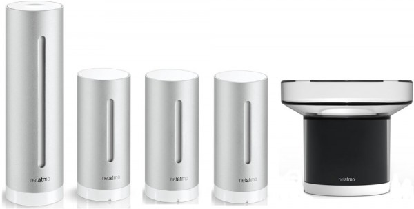 wetterstation netatmo sparset profi plus mit regenmesser. Black Bedroom Furniture Sets. Home Design Ideas