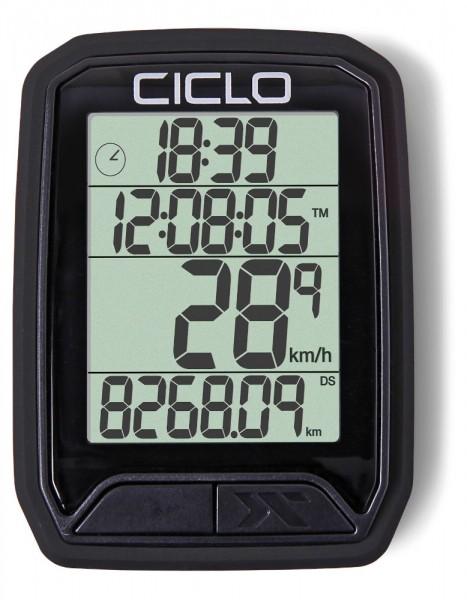 Ciclosport Protos 213 Funk Fahrradcomputer Fahrradtacho 4 Zeilen Display