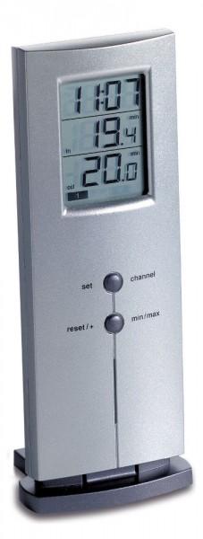 Funkthermometer Logo Silber 30.3009.54