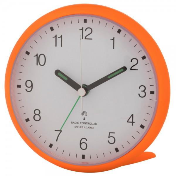 Analoger-Funkwecker mit lautlosem SWEEP-Uhrwerk TFA 60.1506.13 neonorange