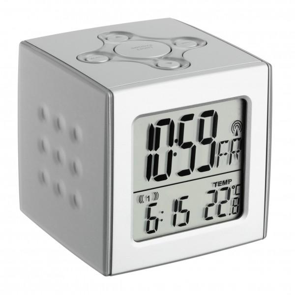 TFA 60.2517 Digitaler Funk-Wecker mit Temperatur CUBO
