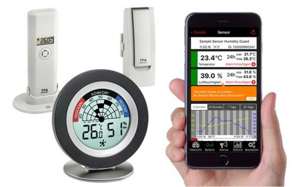 Weatherhub Starterset TFA 31.4008.02 Thermometer Hygrometer Schimmelalarm