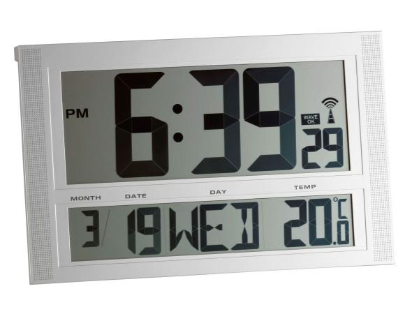 TFA 98.1090 Digitale XXL-Funkuhr mit Temperatur