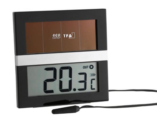 Digitalthermometer Innen/Außen Eco Solar 30.1038