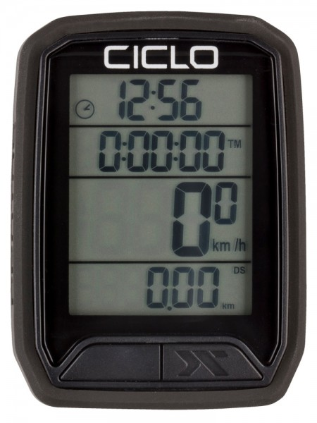 Ciclosport Protos 213 Sonderedition Funk Fahrradcomputer Fahrradtacho 4 Zeilen Display