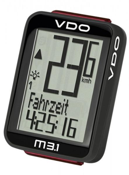 VDO Fahrradcomputer M3.1 WL Digitaler Funktacho Fahrradtacho