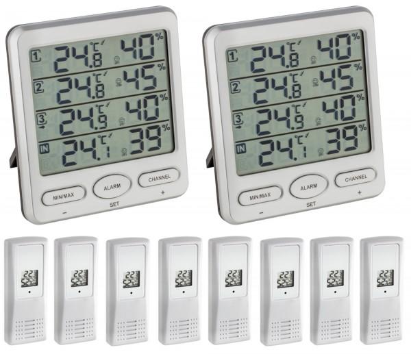 KLIMA MONITOR MEGA TFA 30.3054.mega Funk-Thermo-Hygrometer mit 8 Sender