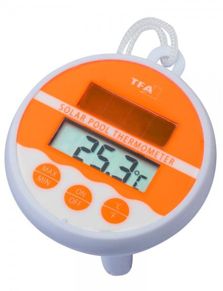 Schwimmbad-Thermometer Digital Solar orange TFA 30.1041.13