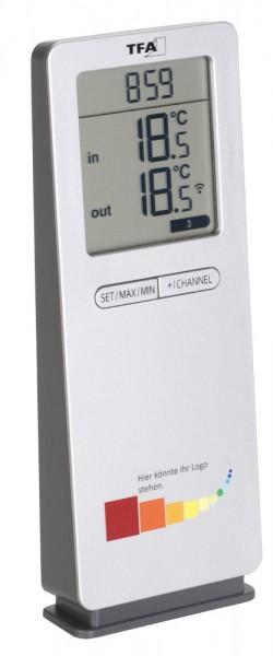 TFA 30.3071.54 Funkthermometer LOGOneo geeignet für Werbeaufdruck