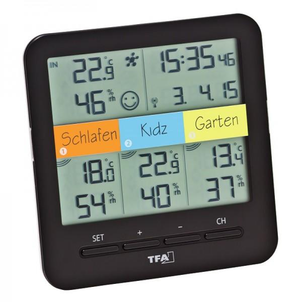 KlimaHome TFA 30.3060.01 Funk-Thermo-Hygrometer