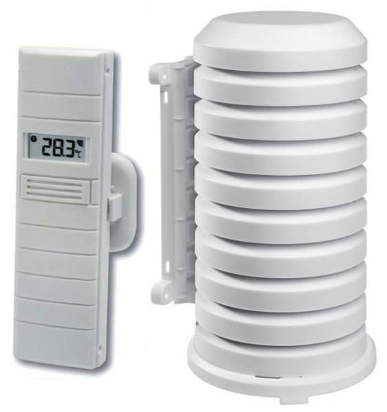 Funk-Sender TFA 30.3155.WD mit Wetterschutzgehäuse 868 MHz Temperatur Luftfeuchte Ersatzsender