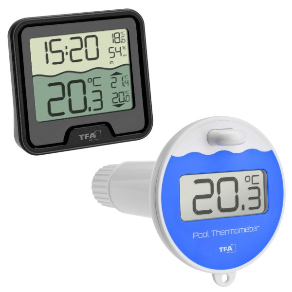 Funk Poolthermometer Marbella TFA 30.3066.01 Schwimmbadthermometer