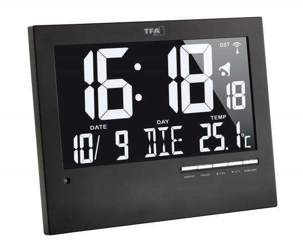 TFA 60.4508 Digitale Funkuhr mit automatischer Hintergrundbeleuchtung