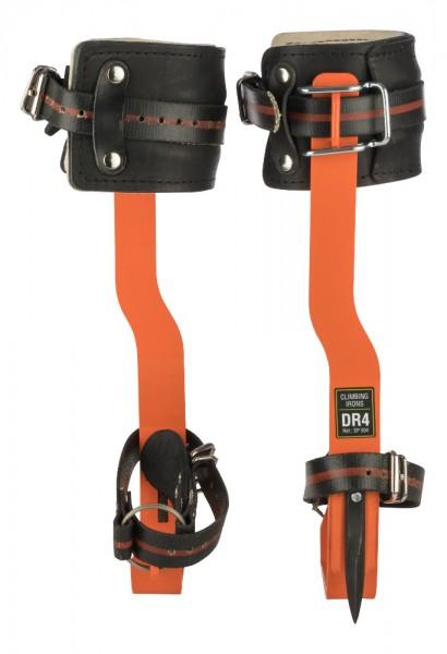 TreeUp Stahlsteigeisen DR 4.0 Neon Orange Baumsteigeisen Forstzubehör