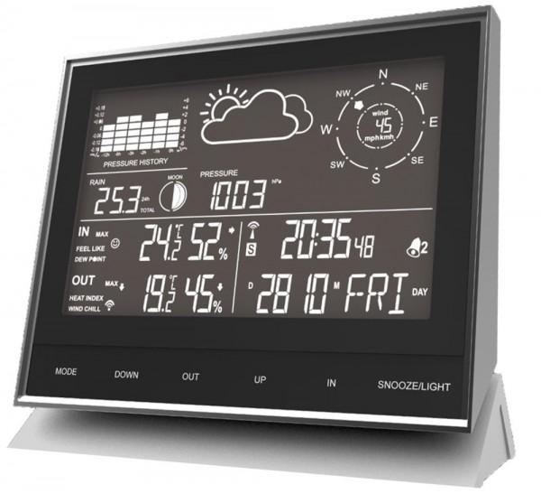 Technoline WS 1700 moderne Wetterstation mit allen relevanten Daten zur aktuellen Wetterlage