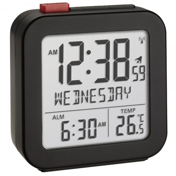 Digitaler Funk-Wecker TFA 60.2558.01 Reisewecker Zeitzone LCD Display