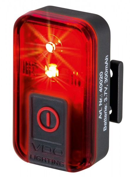VDO Fahrrad Rückleuchte ECO LIGHT RED Plus inkl. Netzteil