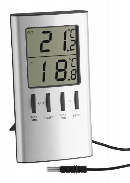 TFA 30.1027 Digitales Innen-Außen-Thermometer mit Messfühler