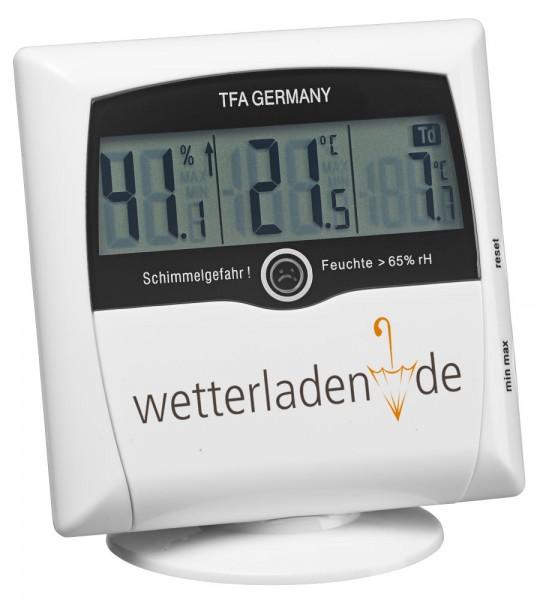 Comfort Control TFA 30.5011.02 Hygrometer-Messgerät Schimmelhygrometer mit Aufdruck