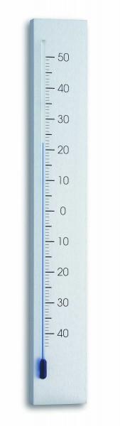 TFA 12.2033 Analoges Innen-Außen-Thermometer aus Aluminium LINEA