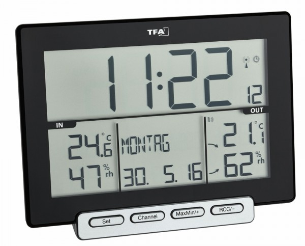 Digitales Funk-Thermo-Hygrometer Trinity TFA 30.3058.01 Wohnklimakontrolle