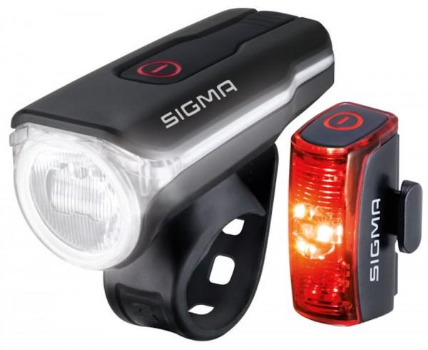Sigma Aura 60 Infinity Set 17760 Fahrradlampe Leuchtstärke 60 Lux