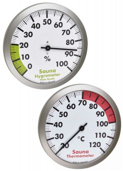 Sauna Thermo-Hygrometer Set TFA 40.1053.54.99 Saunazubehör