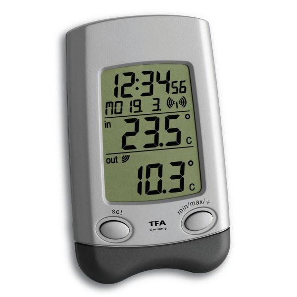 TFA Dostmann digitales Funk-Thermometer Wave 30.3016.54