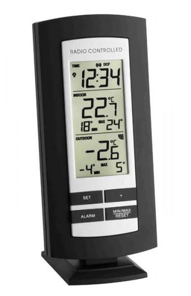 Funkthermometer Basic schwarz-silber TFA 30.3037.01