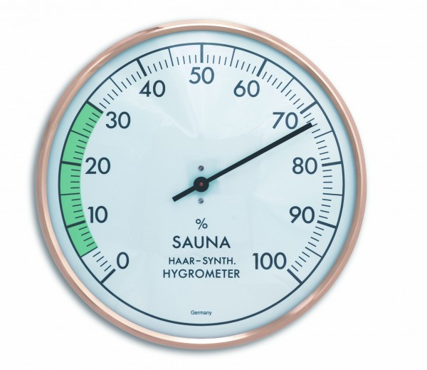 TFA 40.1012 Analoges Sauna-Hygrometer mit Metallring