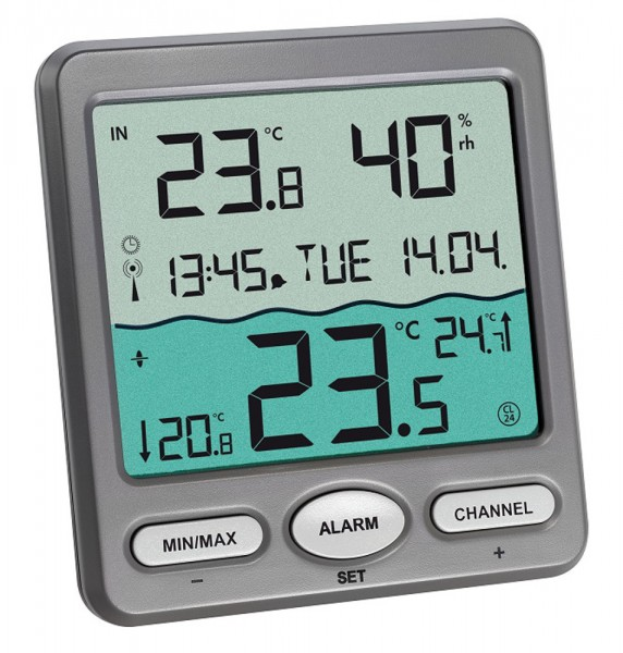 Funk-Poolthermometer Venice TFA 30.3056.10 Schwimmbadthermometer