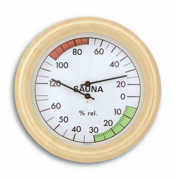 TFA 40.1006 Analoges Sauna-Thermo-Hygrometer mit Holzrahmen