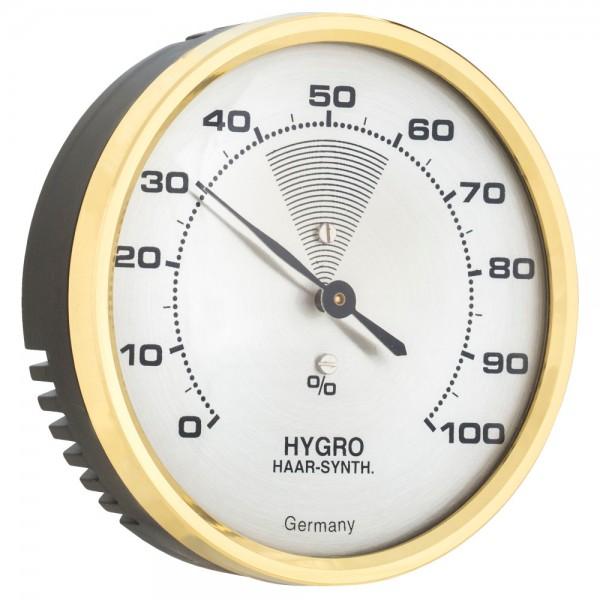 TFA 44.2000 Analoges Hygrometer mit Messingring präzise Haar-Synthetik-Messung