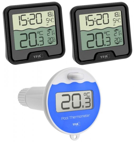 Funk Poolthermometer Marbella Mega TFA 30.3066.01.99 Schwimmbadthermometer