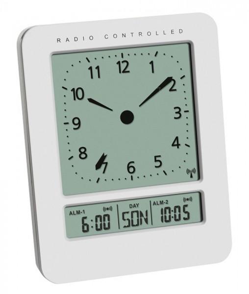 Digitaler Funkwecker TFA 60.2530.02 mit 2 Alarmzeiten