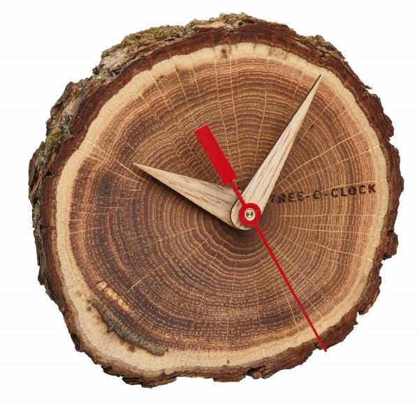 Analoge Tischuhr aus Eichenholz TREE-O-CLOCK TFA 60.1028