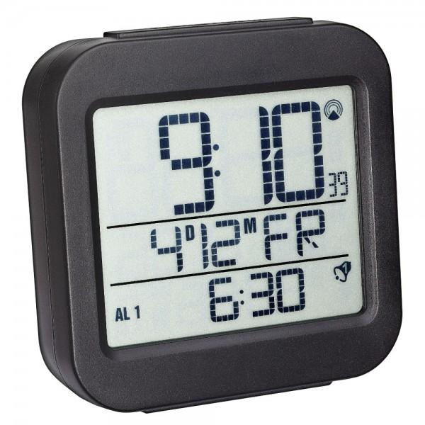 Digitaler Funkwecker TFA 60.2533.01 mit Temperaturanzeige 2 Alarmzeiten