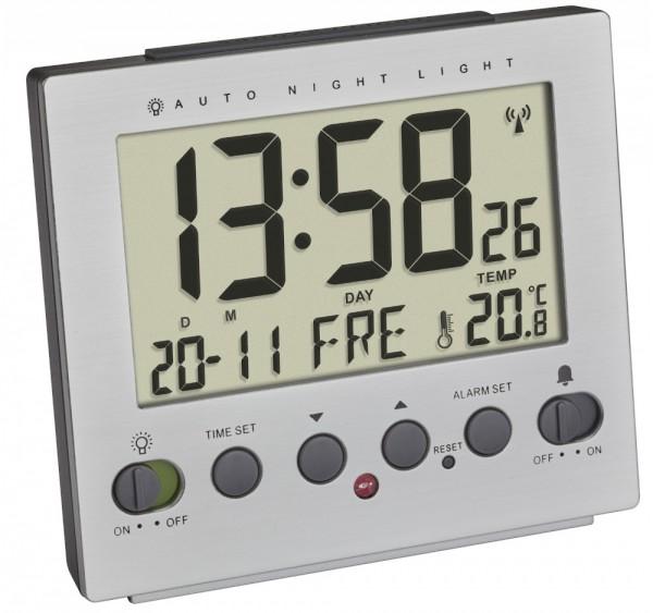 Digitaler Funk-Wecker TFA 60.2561.55 Nachtbeleuchtung über Lichtsensor