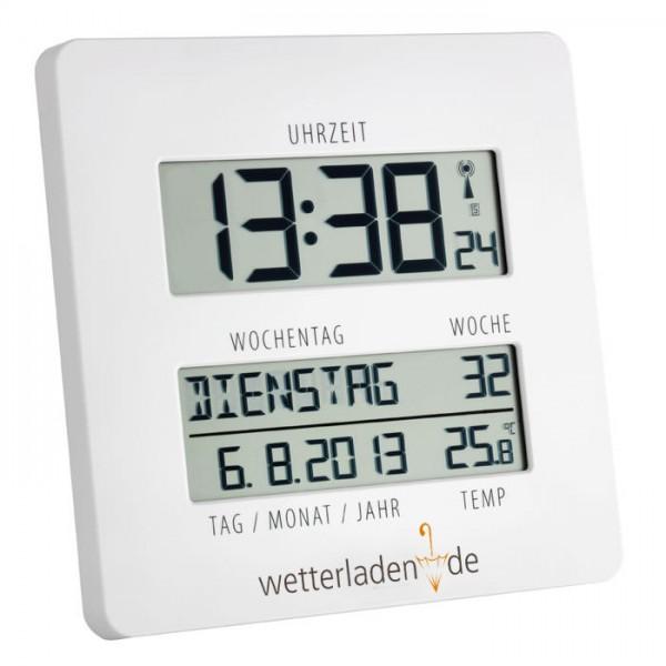 Funkuhr mit Temperaturanzeige Timeline TFA 60.4509.02 mit Aufdruck