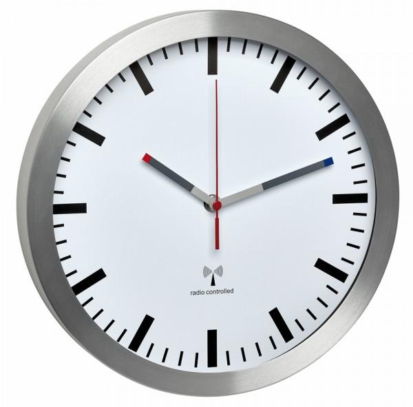 Funk-Wanduhr TFA 60.3528.02 Funkuhr mit Geräuscharmem Uhrwerk 300 mm
