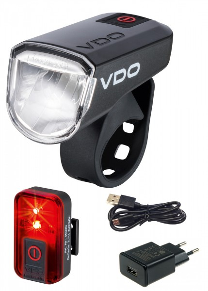 VDO Fahrradlampe ECO LIGHT M30 Set-Plus