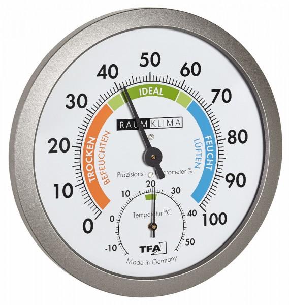 Präzision Thermo-Hygrometer TFA 45.2042.50 Raumklimaüberwachung