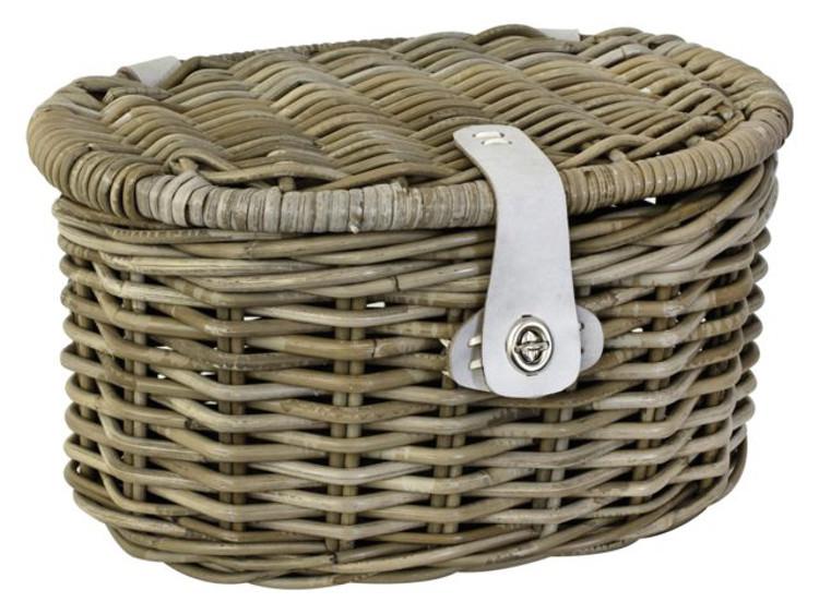 fastrider rattankorb junior oval mit deckel weidenkorb fastrider fahrrad accessoires. Black Bedroom Furniture Sets. Home Design Ideas