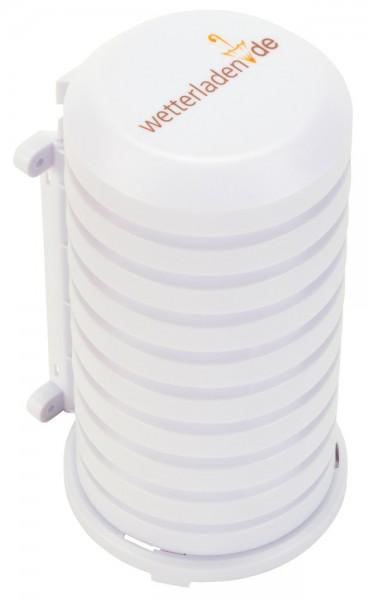 Schutzhülle mit Schirmlogo für Außensender TFA 98.1114.02 Wetterschutzgehäuse