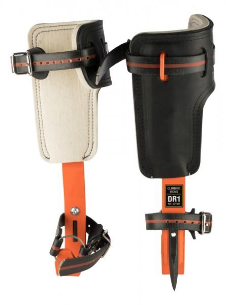 TreeUp Stahl-Steigeisen DR-1.0 Neon Orange Baumsteigeisen Kletterzubehör