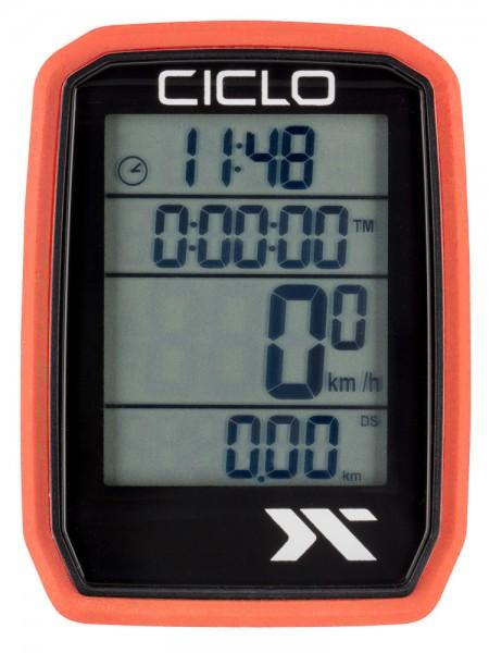 Ciclosport Protos 205 Sonderedition Funk Fahrradcomputer Fahrradtacho 4 Zeilen Display