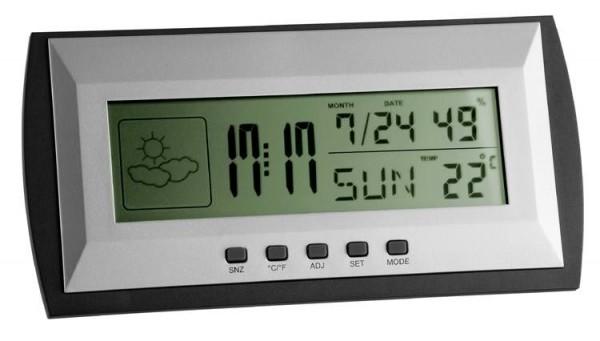 Hygrometer-Station Klimaproof mit Wecker